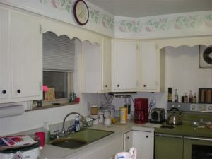 Before Photo: Kitchen with Border