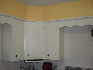 Painted Wall and Cabinets
