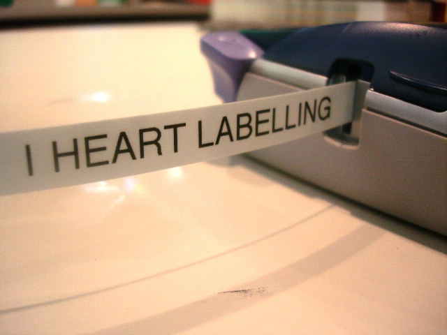 labelling heart. I#39;m love with labelling!